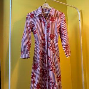 Zara Floral Maxi Vintage Style Dress